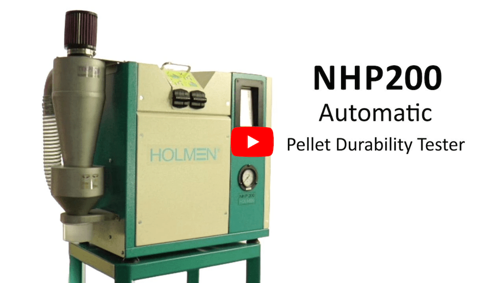 Holmen NHP200 Automatic Pellet Durability Tester Video