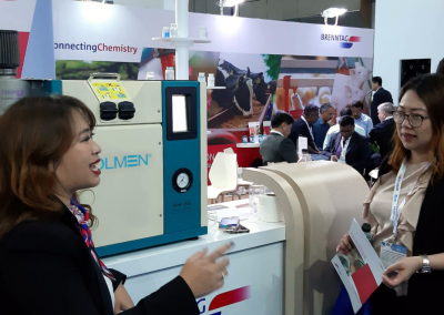 Holmen NHP200 at VIV Asia being demonstrated by our distributor in Thailand